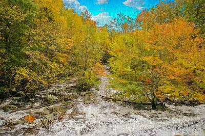 Digital Art - Water Rushing Through Fall Colors by Rusty R Smith