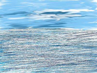 Digital Art - Water Scribbles by Paula Brown