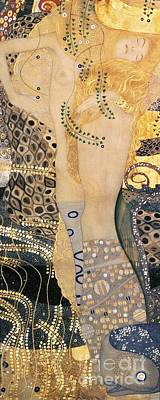 Fish Underwater Painting - Water Serpents I by Gustav klimt
