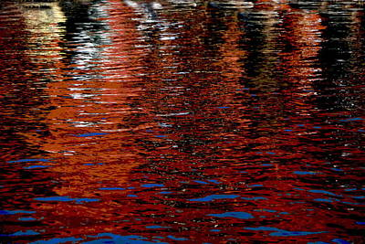 Photograph - Water Show Orange by Jacqueline M Lewis