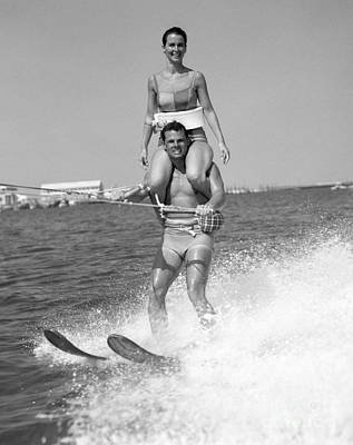 Photograph - Water Skiing Tricks by H. Armstrong Roberts/ClassicStock