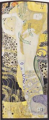 Celebrity Pop Art Potraits - Water Snakes by Klimt