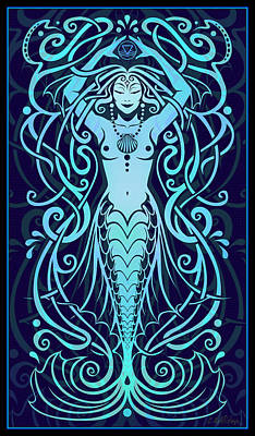 Sacred Digital Art - Water Spirit by Cristina McAllister