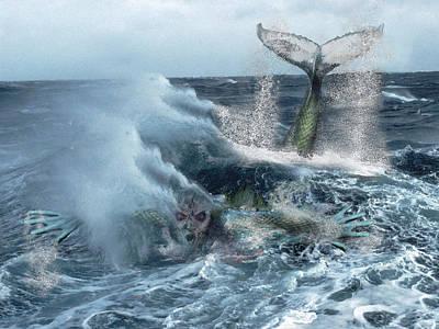 Digital Art - Water Spirits 19 by Alma