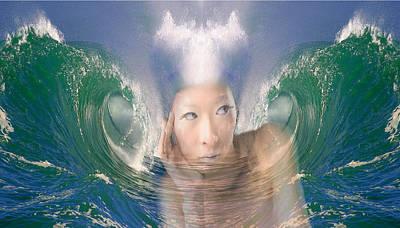 Digital Art - Water Spirits 22 by Alma