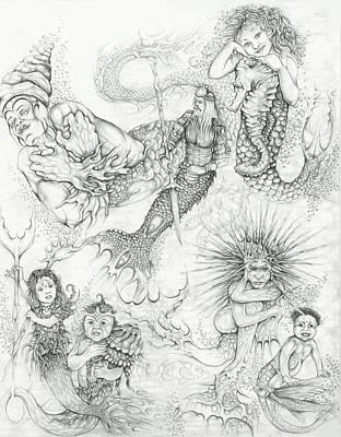 Drawing - Water Spirits 6 by Alma