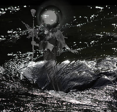 Digital Art - Water Spirits 7 by Alma