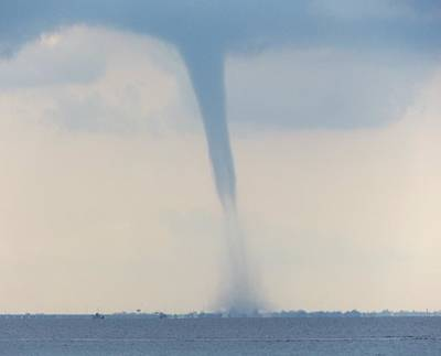 Photograph - Waterspout Over Tampa Bay by Julie Pappas