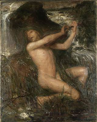 Painting - Water Sprite by Ernst Josephson