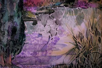 Mystical Landscape Painting - Water Sprite by Mindy Newman