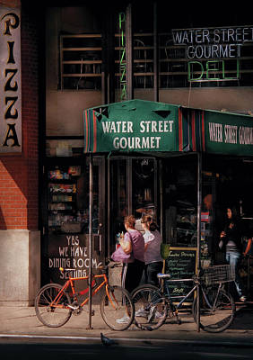Water St Gourmet Deli  Art Print by Mike Savad