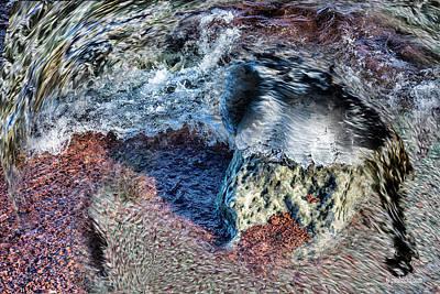 Photograph - Water Stone.... by Paul Vitko