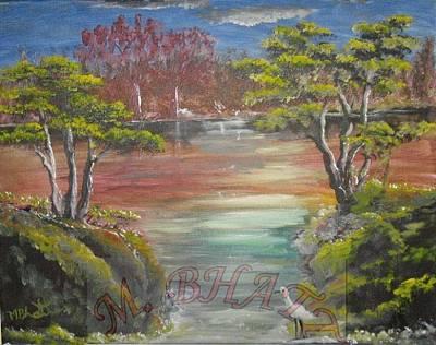 Water Stream Art Print by M Bhatt