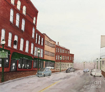 Architectural Painting - Water Street by Bonnie Young