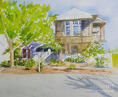 Painting - Water Street, Rosemary Beach by Jill Morris