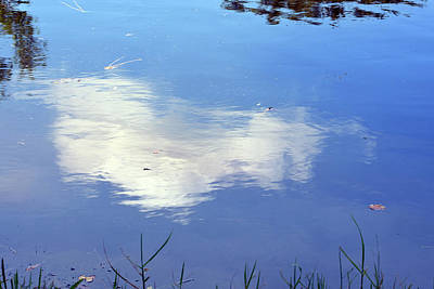 Photograph - Water-stretched Cloud by William Tasker