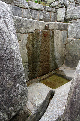 Photograph - Water System At Machu Picchu, Peru by Aidan Moran