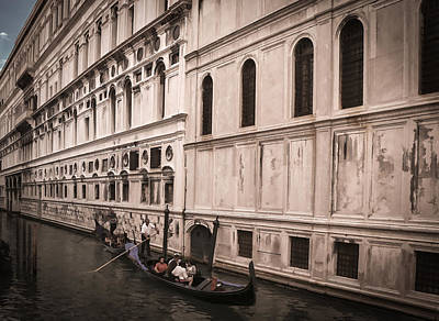 Photograph - Water Taxi In Venice by Kathleen Scanlan