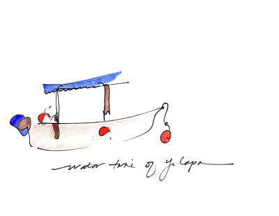 Water Taxi Of Yelapa Art Print