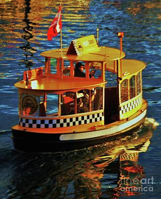 Arts And Crafts Movement Photograph - Water Taxi Victoria Harbor B. C. by Poet's Eye