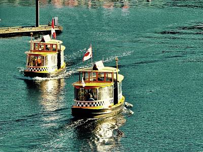 Photograph - Water Taxis  by Brian Sereda