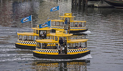 Photograph - Water Taxis by Inge Riis McDonald
