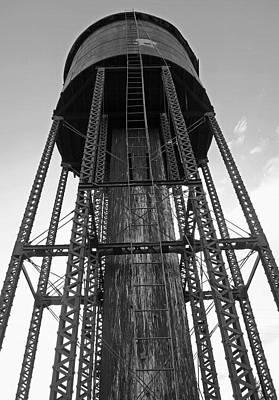 Looming Digital Art - Water Tower 1 - West Yellowstone by Steve Ohlsen
