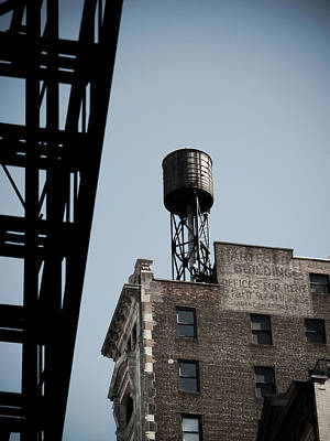 Water Tower And Fire Escape Art Print by Darren Martin