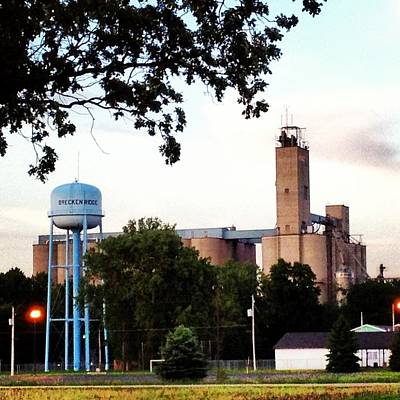 Photograph - Water Tower And Silos by Chris Brown