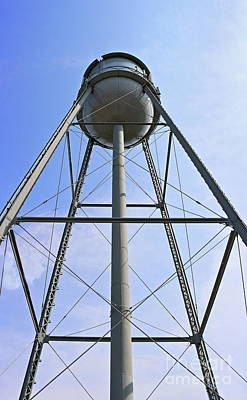Photograph - Water Tower by Erick Schmidt