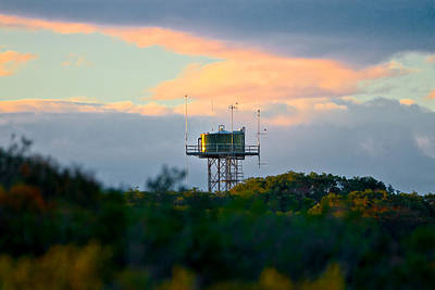 Photograph - Water Tower In Orange Sunset by Miroslava Jurcik