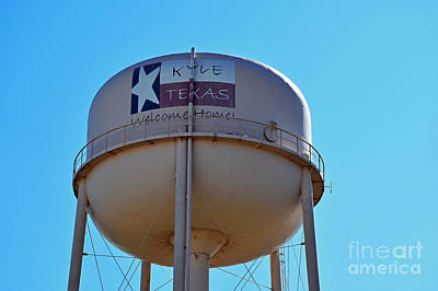 Photograph - Water Tower - Kyle Texas  by Ray Shrewsberry