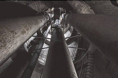 Photograph - Water Tower Pipelines by Dirk Ercken