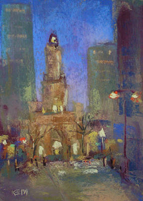 Painting - Water Tower Place by Karen Margulis