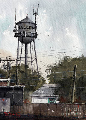 Painting - Water Tower Shallowater Texas by Tim Oliver