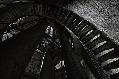 Photograph - Water Tower Stairs by Dirk Ercken