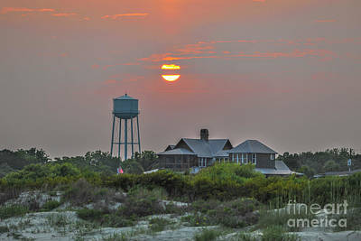 Photograph - Water Tower Sunset by Dale Powell