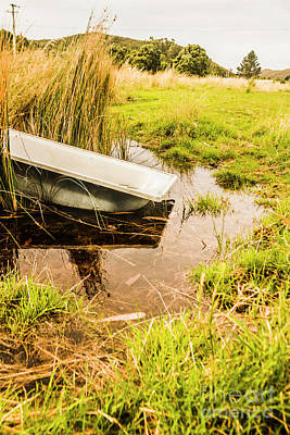Farming Photograph - Water Troughs And Outback Farmland by Jorgo Photography - Wall Art Gallery