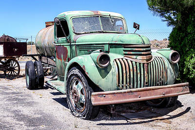 Photograph - Water Truck - 1945 Chevrolet On Route 66 by Gene Parks