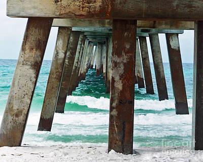 Water Under The Bridge Art Print by Amanda  Sanford