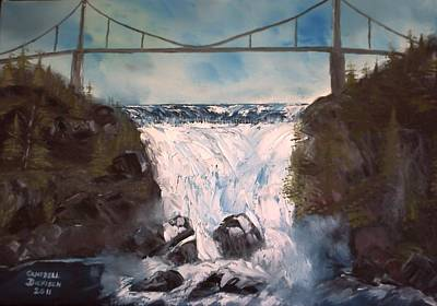 Water Under The Bridge Art Print by Campbell Dickison