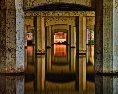 Photograph - Water Under The Bridge by Frozen in Time Fine Art Photography