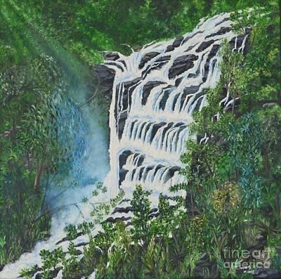 Water Art Print by Usha Rai