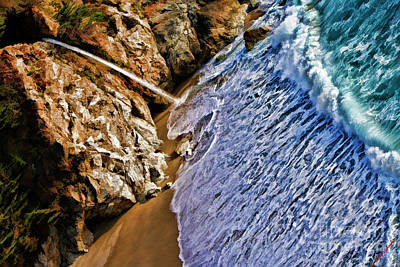 Photograph - Water Wave To Mcway Falls by Blake Richards