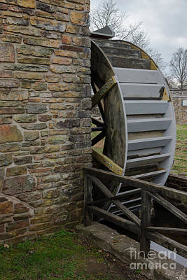 Photograph - Water Wheel At Edwards Mill by Jennifer White