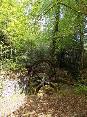 Photograph - Water Wheel At Enys by Matt Swann