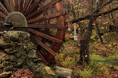 Photograph - Water Wheel At Falls by Katherine Worley