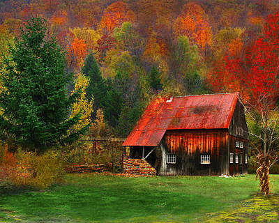 Water Wheel Barn Art Print