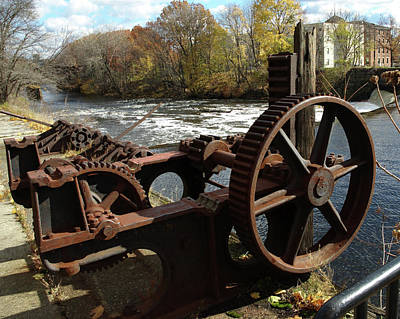 Photograph - Water Wheel by Barry Doherty
