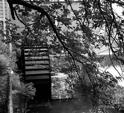 Photograph - Water Wheel - Black And White by Jacqueline M Lewis